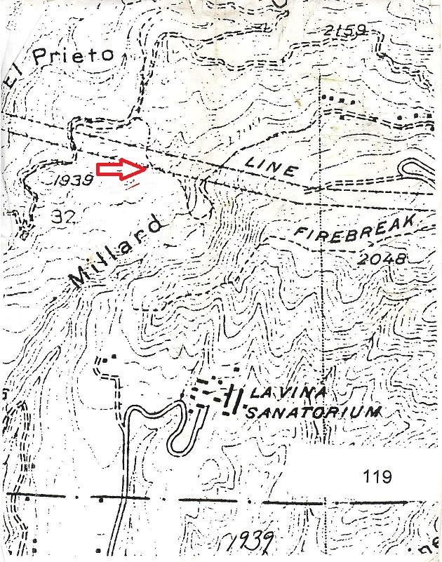 """Early map showing robert Owens """"Uncle Bob's Trail"""", courtesy of Paul Ayers"""