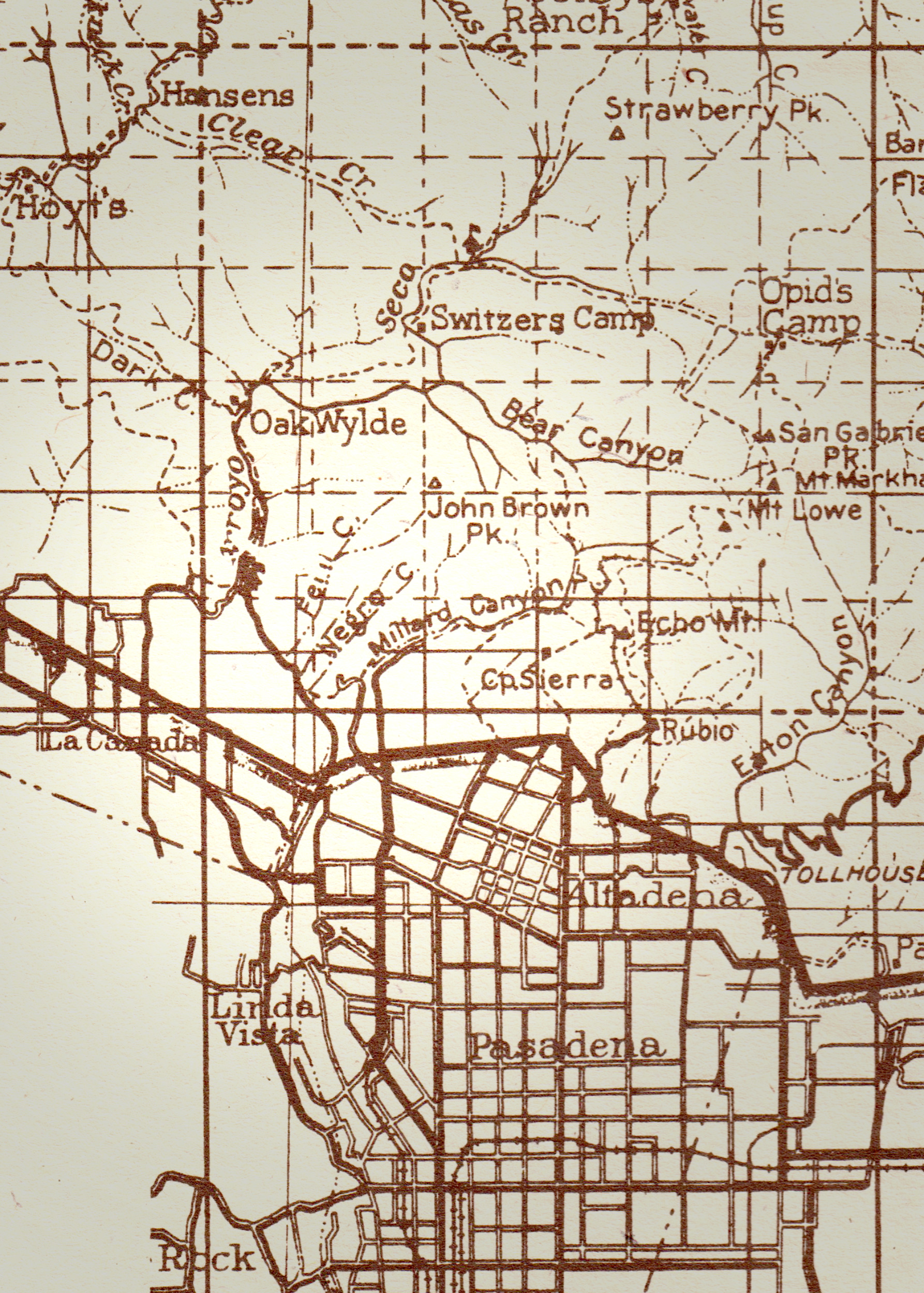 On a 1920 Angeles National Forest map, the area Robert Owens homesteaded is called Negro Canyon
